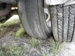 econoline rv tire blown