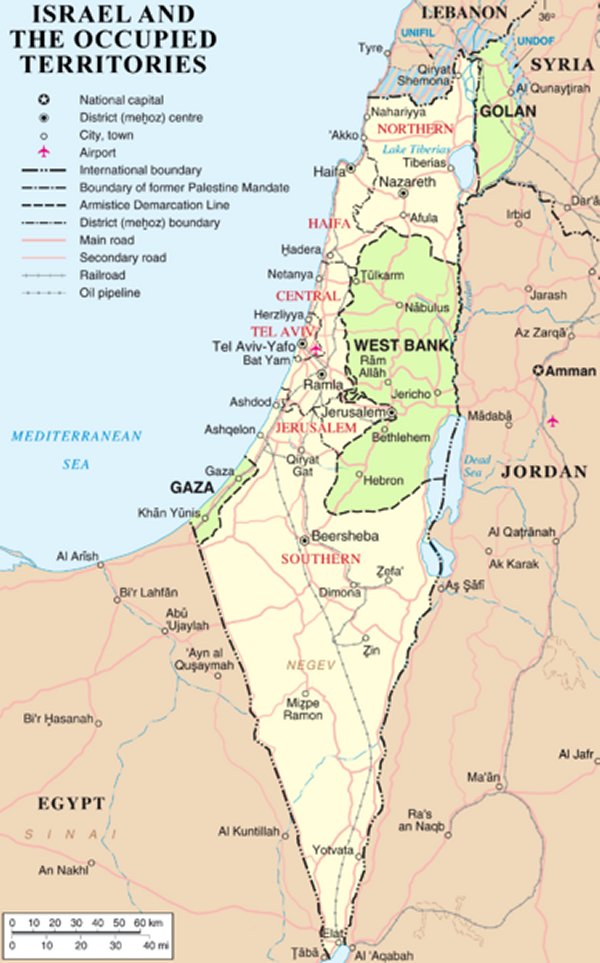 Map israel and occupied territories So Far From Heaven