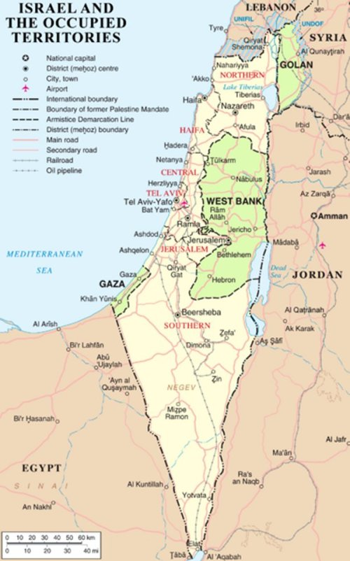 Map israel and occupied territories