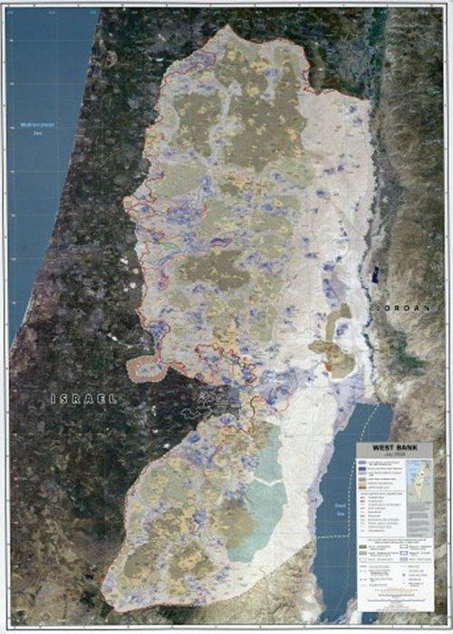map israel pre 1967 borders