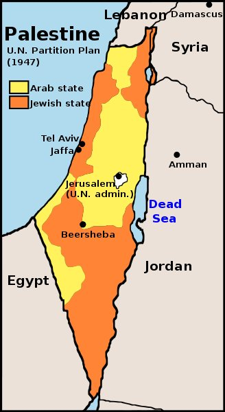 map israel UN partition 1947