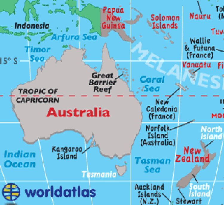 Australia New Zealand Map So Far From Heaven - Australian map of the world