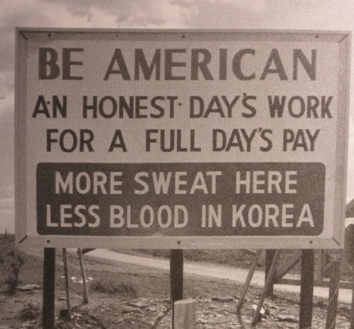Thanks to Sunflower Army Ammunition Plant employees sweating like good Americans the Korean War didn't last as long as it did and not as many people were killed and injured as actually were.  All our boys have come home from Korea now thanks to these Americans.