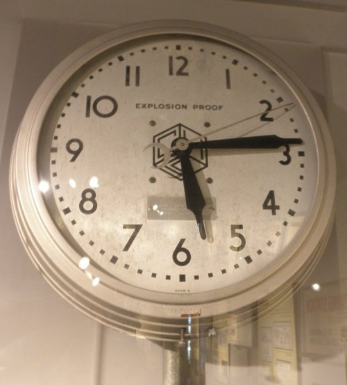 The US might yet make use of an explosion proof clock.  I sort of wish i had me one if I leaned to having wall clocks.