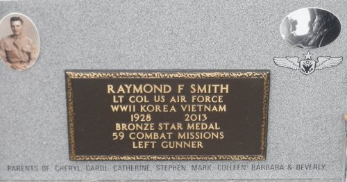 This guy died last year.  He'd have been 20 in 1948.  The pic on the headstone shows him wearing Sgt. stripes.  The stone says Lt. Col. Okay.  Also says he was a 'left' gunner.  Presumably a waist gunner on a B24?  Did B17s have a machine gun blister on the waist?  Anyway, 59 combat missions by a guy who didn't turn 17 until 1945?  And decorated with a bronze star.  Claims WWII, Korea and Vietnam as his own.   Anything happen in his life afterward, you suppose?  Something factual, for instance and worth remembering him for?
