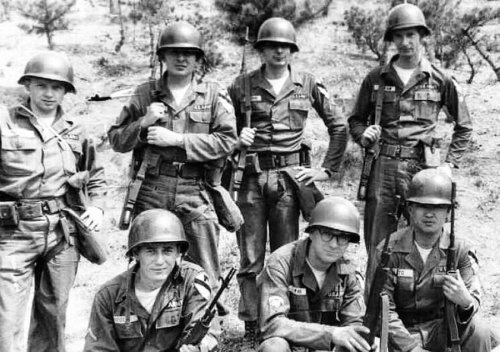 All but two of these guys were 2 year draftees or single enlistment 3 year recruits.  Those would have all come home before the end of 1964, ETS [expiration term of service].  Just in time to miss the Vietnam debacle.  Those returning to the US for reassignment went to 11th Air Assault Group, Fort Gordon, GA, training to jump out of helicopters.  Then the Army moved the 1st Cavalry Division to Vietnam, dissolved the 11th Air Assault Group, and sent everyone in it to Vietnam.  I'm betting these guys had better sense than to reinlist.
