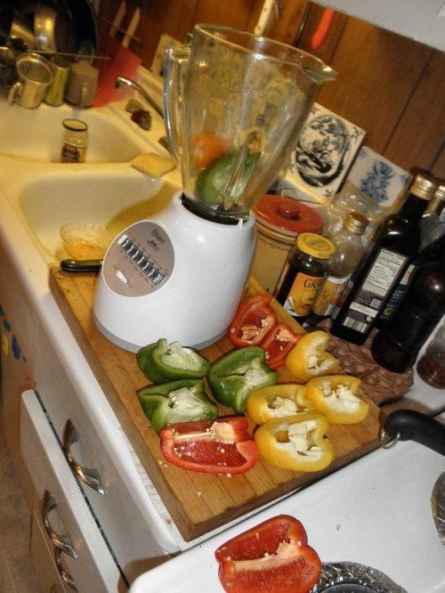 sweet pepper and bells in blender