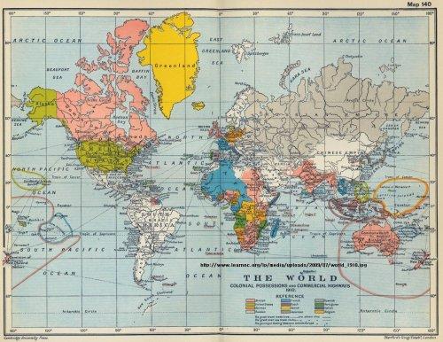 colonial empires 1910